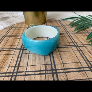 Blue Square Acrylic Bangle